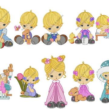 Matrizes Infantil Baby Little dolls