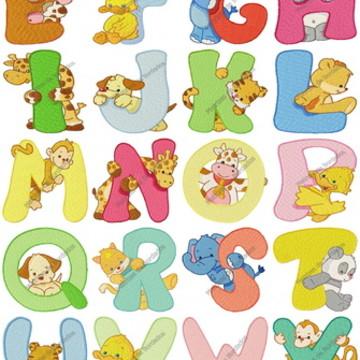 Matrizes Infantil ABC zoo Alfabeto