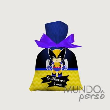 Saquinho Wolverine Cute 15cm x 20cm