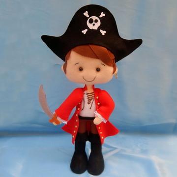Pirata de Chapéu e Espada em Feltro