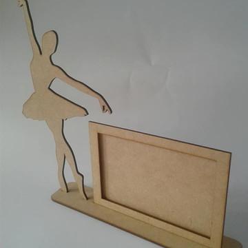 Porta retrato Bailarina em MDF