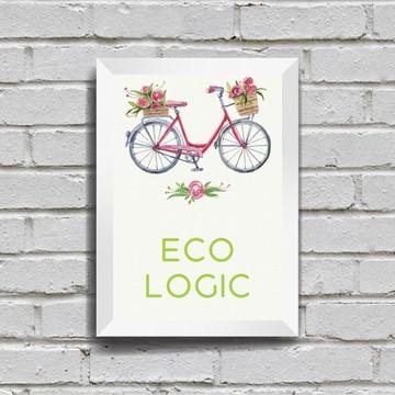 Poster com Moldura Ecologic