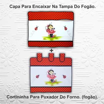 Kit Fogão - Capa + Cortininha p/ Forno.
