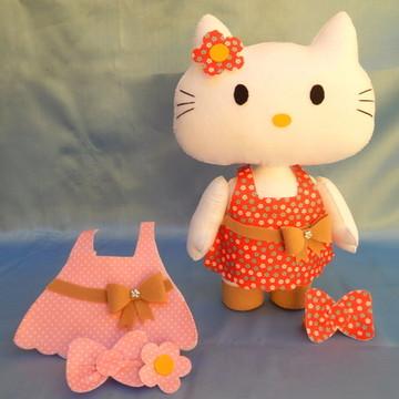 Hello Kitty - Troca Roupinha - em Feltro