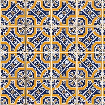 Papel de Parede Azulejo Cozinha Amarelo