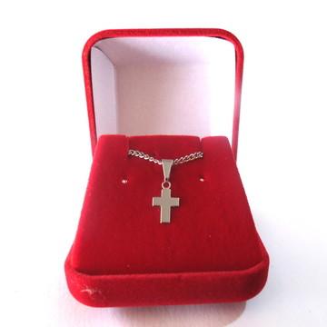 Colar Cruz Crucifixo Lindo c caixinha