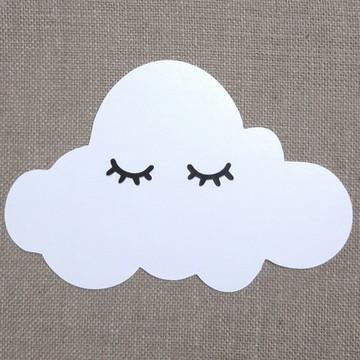 Quadro decoração nuvem mdf pintado