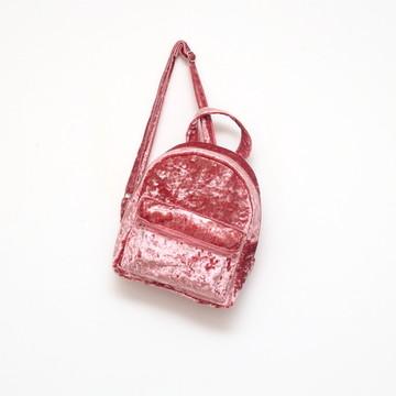 Mini mochila veludo