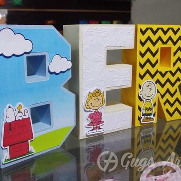 Letras 3D Snoopy
