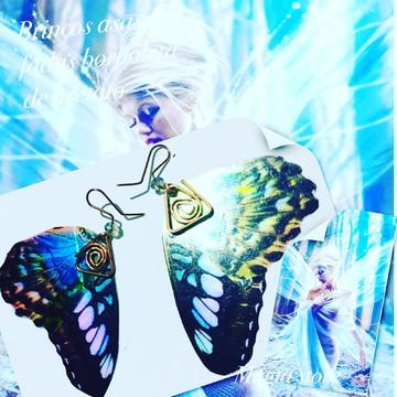Brincos asas fada borboleta elfos