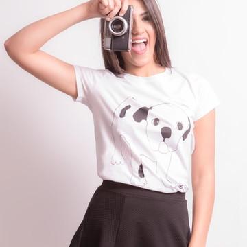 4317ebf879 Blusa Camiseta Basica Feminina Branca Ecologica