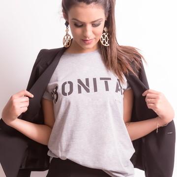 Blusa Camiseta Feminina Mescla Bonita