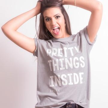 T-shirt: Camiseta Feminina Mescla Pretty