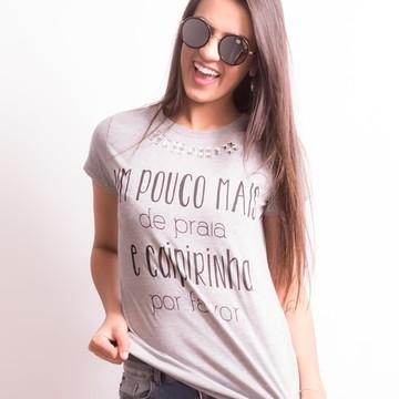 T-shirt: Camiseta Feminina Bordada Praia