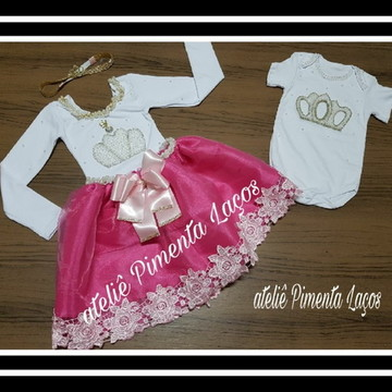 Conjunto Collant com Saia e Body Princesa