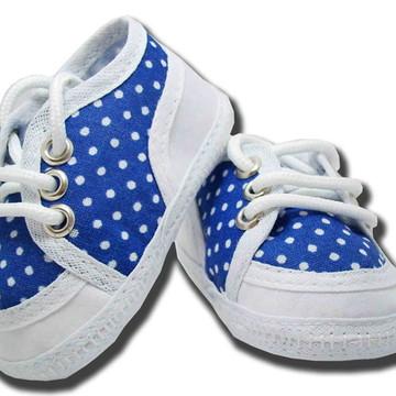 Sapatinho de bebê Tênis Azul Boá