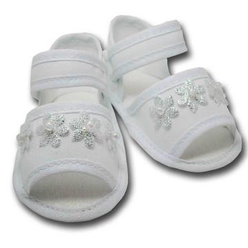 Sapatinho de Bebê Sandália Bebê Branca