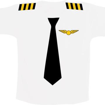 Camiseta infantil Comandante / Piloto - Profissões