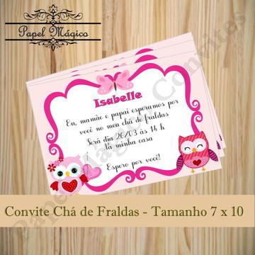 Convite Chá de Fraldas- Corujinha
