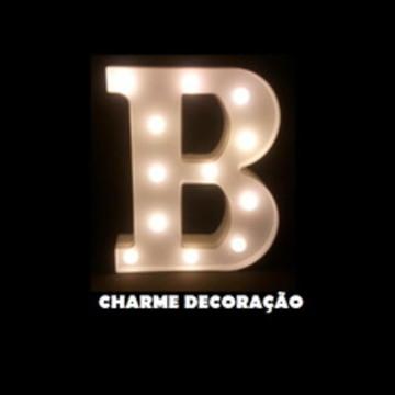 Letra B Luminosa Led 3d A Pilha