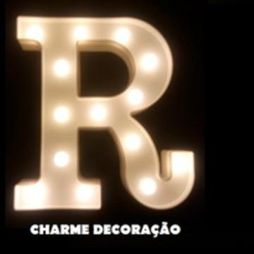 luminária Letra R Luminosa Led 3d A Pilha