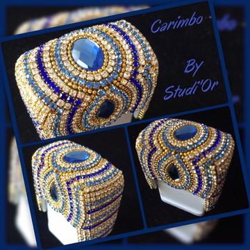 Carimbo de luxo azul
