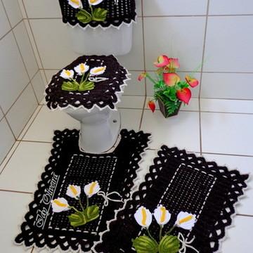 Jogo de Banheiro de Crochê