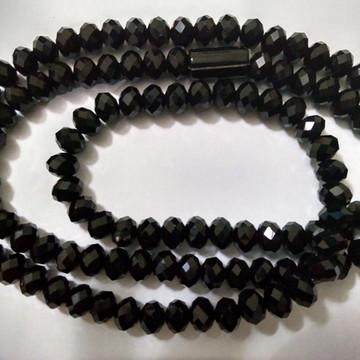 Guia de cristal preto transparente