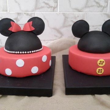 Bolo Fake Mickey e Minnie