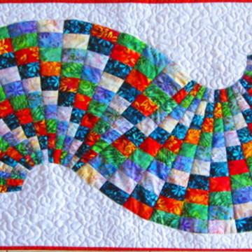 Painel artístico patchwork quiltado