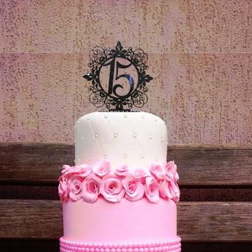 Topo de bolo casamento acrilico festaTP5