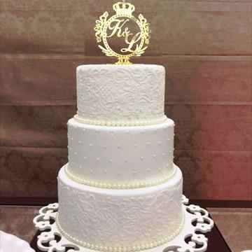 Topo de bolo casamento acrilico festaT10