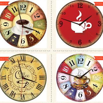 Relógio De Parede Estilo Rústico Café