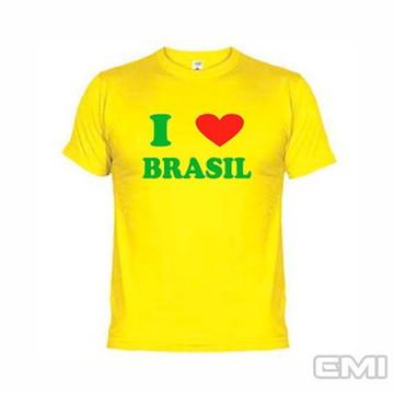 Camisetas Engraçadas Eu Amo Brasil