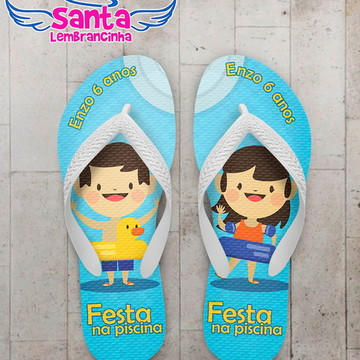 Chinelo Infantil Pool Party