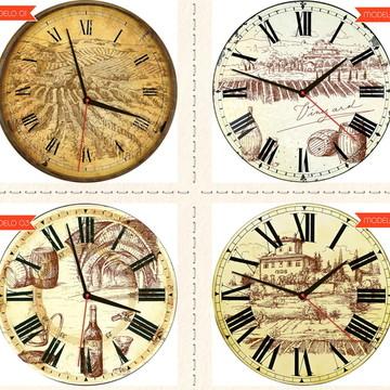 Relógio De Parede Estilo Rústico Colônia