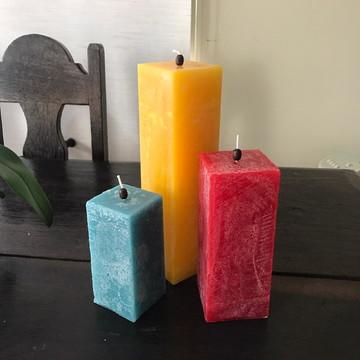 Trio de Velas - Escolha suas cores