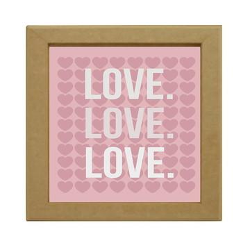 Quadro MDF Love, Love, Love
