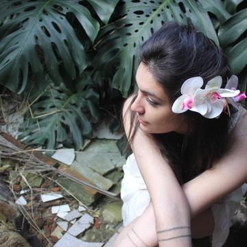 Acessório de Flor Para Cabelo   Orquídea