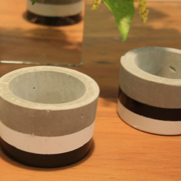 Kit 2 Vasos de Concreto Guido