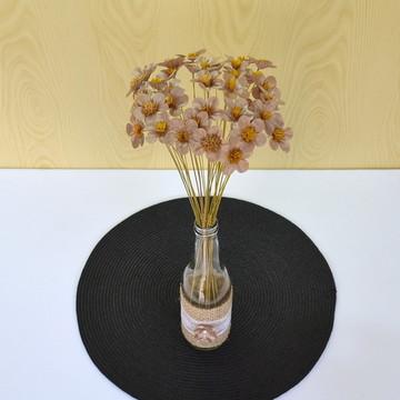 Flor Dourada - Tecido P/ Arranjo Garrafa - Casamento Rústico