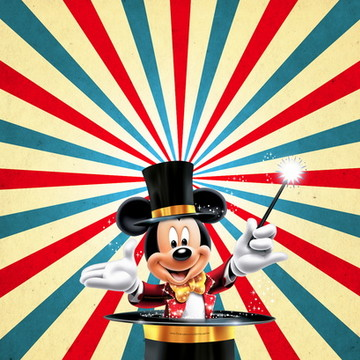 Painel 1x0,65 Mickey Circo