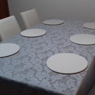Toalha Mesa Cetim de Jacquard 1,50x2,00 Natal e Ano Novo