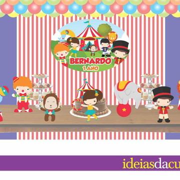 Kit Festa Decoração em MDF Circo
