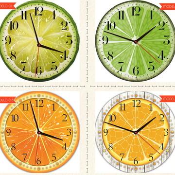 Relógio De Parede Estilo Rústico Polpa