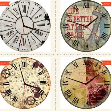 Relógio De Parede Estilo Rústico Textura