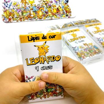 Mini Lápis de cor personalizado - qualquer tema pokemon