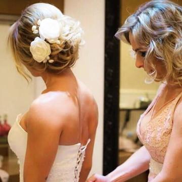 Arranjo de cabelo para noiva