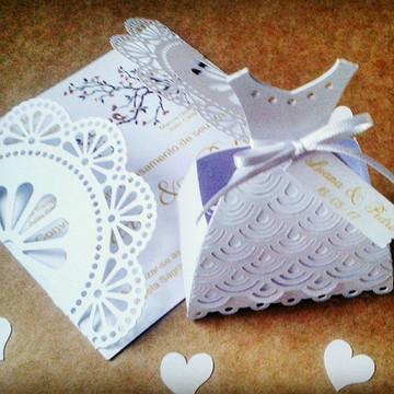 caixa vestido noiva scrap