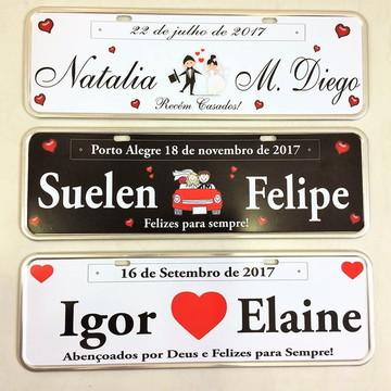 Placas carro decorativa casamento